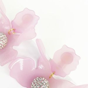 lele sadoughi Jewelry - LELE SADOUGHI | Crystal Lily Earrings in Pink Rose